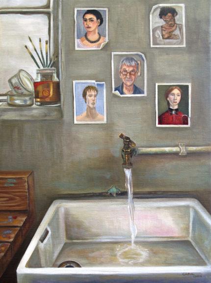 In My Studio By Carol Tarn