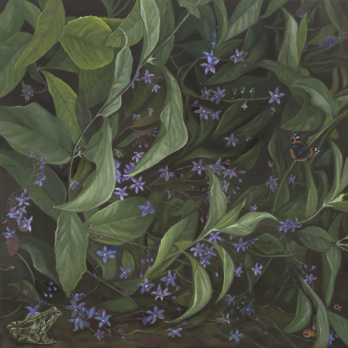 In The Undergrowth Oil On Linen 30X30Ins