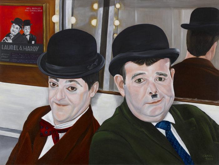 Neil Bromley Simon Lloydas Laurel Hardy Jermyn Street Theatre London2009