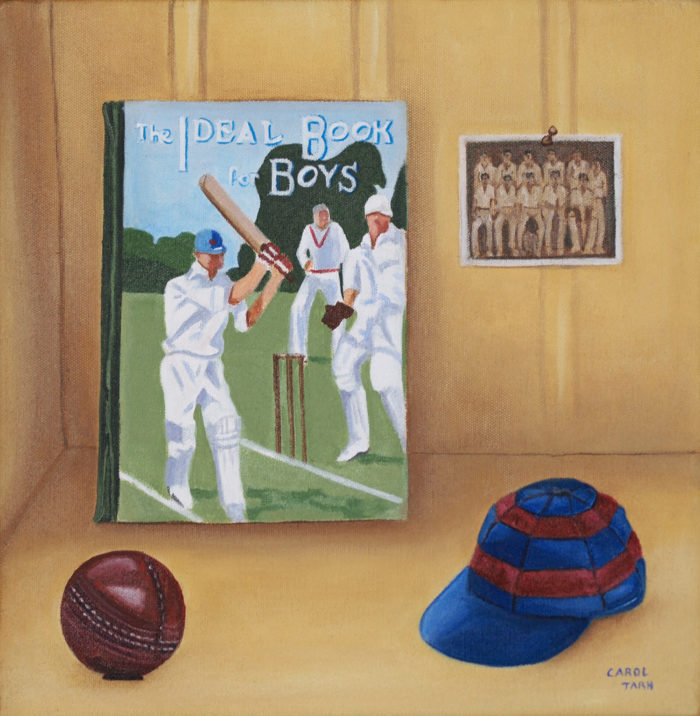 Treasured Possessions Cricket Oil On Canvas12X12Ins