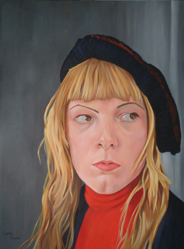 Zoe By Carol Tarn Oil On Canvas 40 X 30 Ins