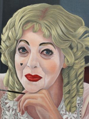 Detail Of Greta Scacchi As Bette Davis In Bette Joan  Portrait By Carol Tarn